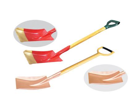 Лопата совковая прямоугольная искробезопасная L990 мм.