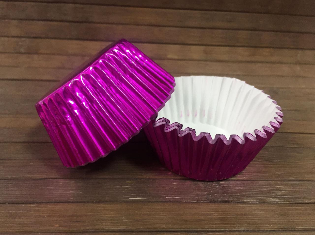 Капсулы бумажные фольгированные фиолетовые