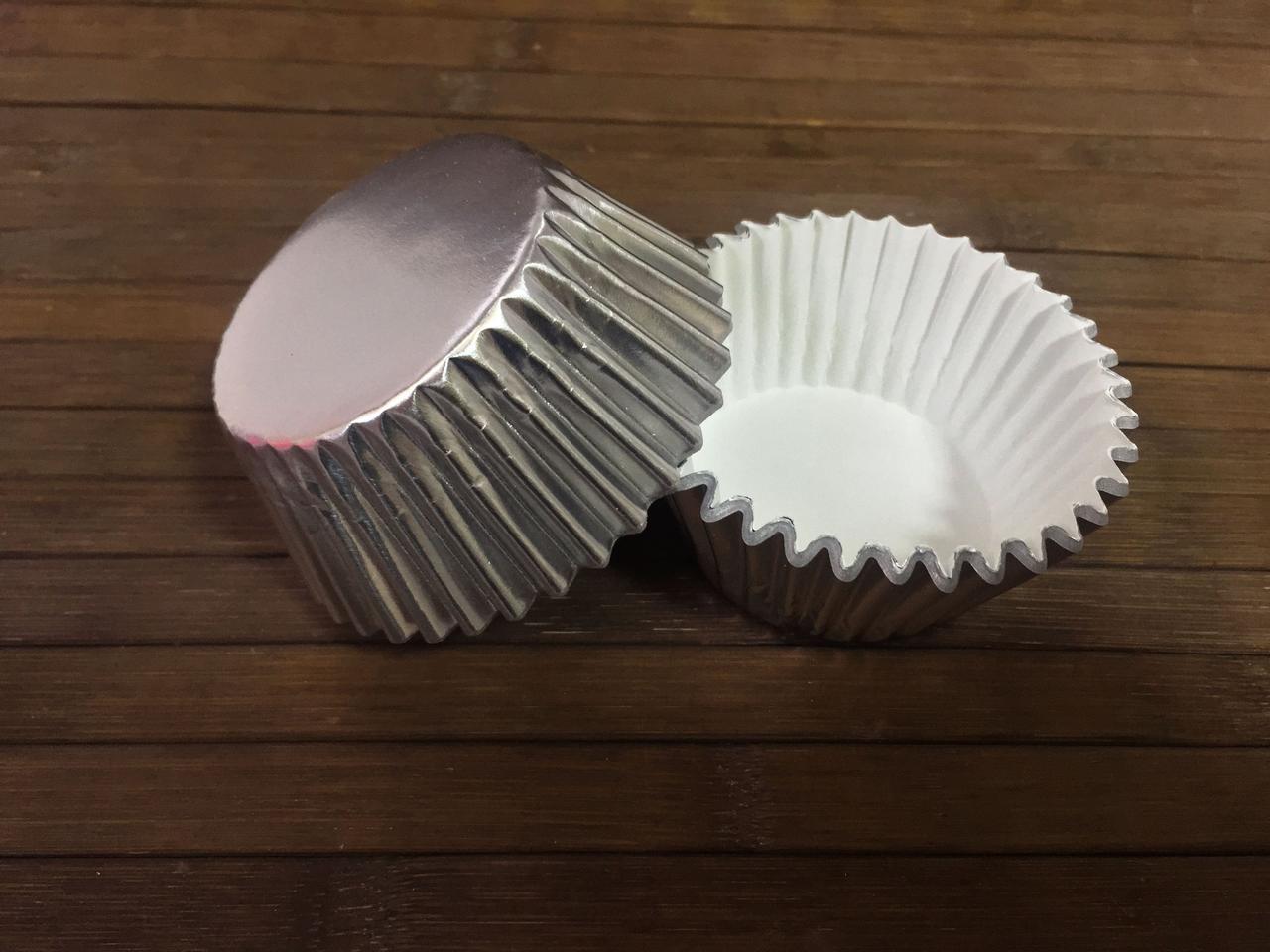 Капсулы бумажные фольгированные серебряные