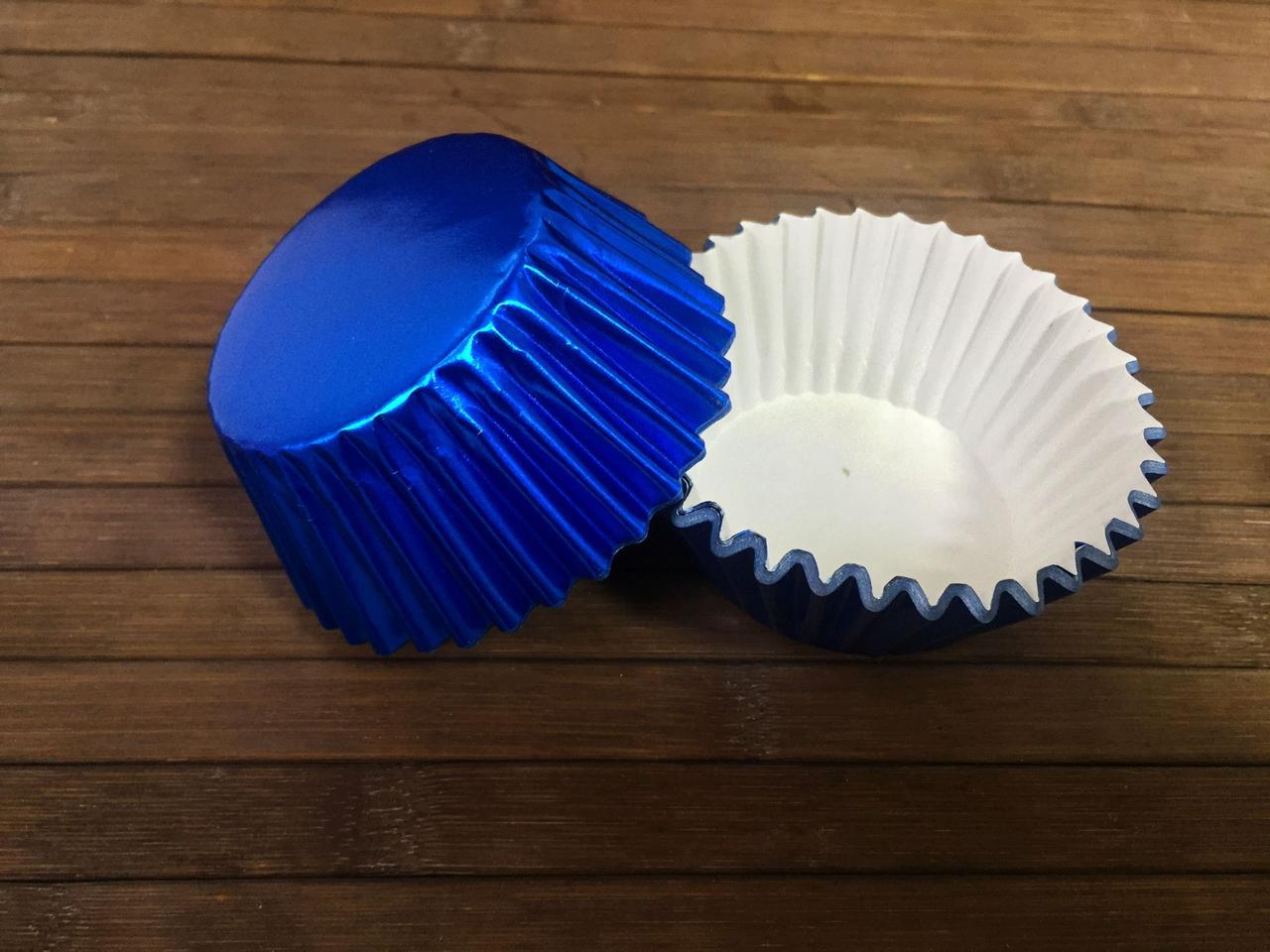 Капсулы бумажные фольгированные синие