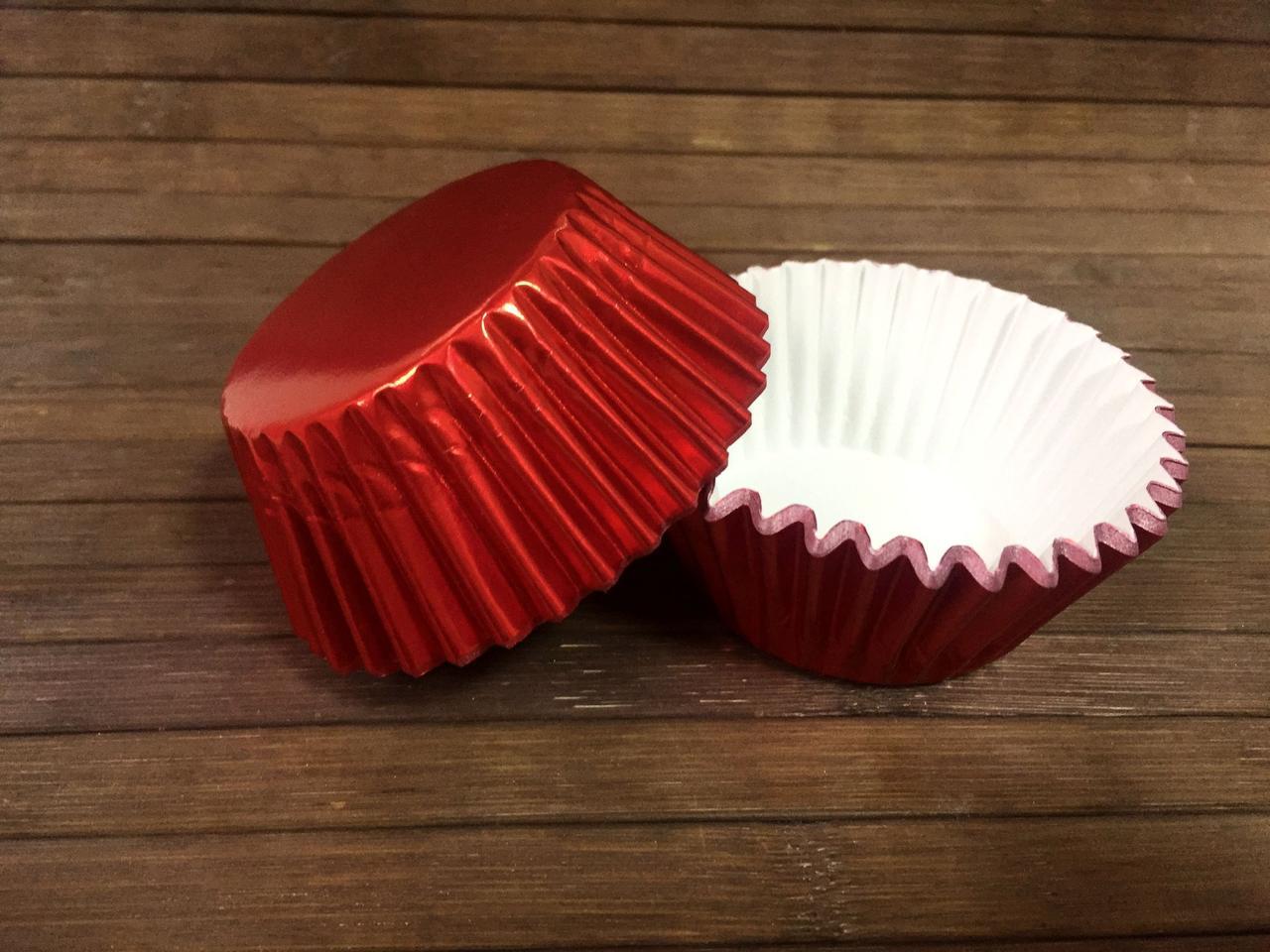 Капсулы бумажные фольгированные красные