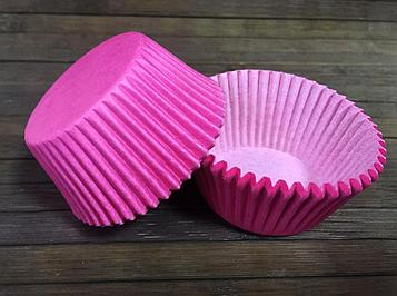 Капсулы бумажные розовые