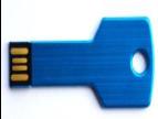 USB Накопитель Металлический в Форме Ключика 8GB, Синий