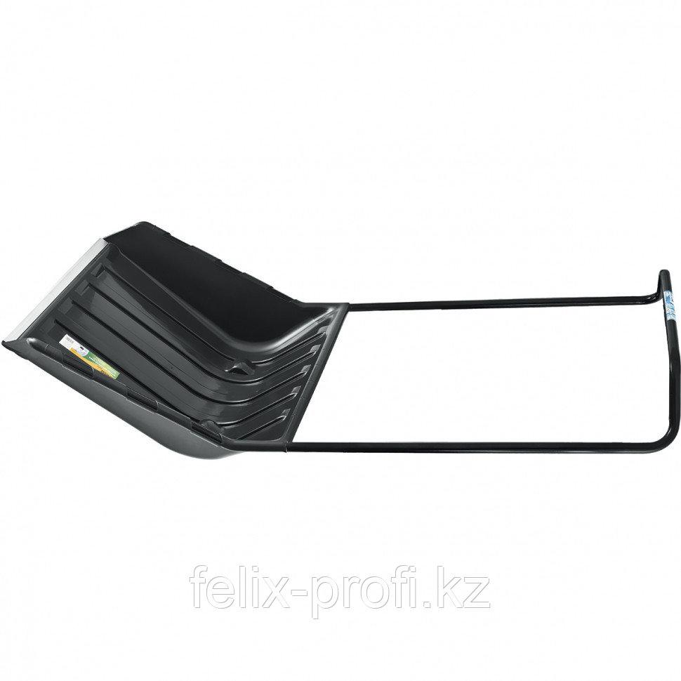 Скрепер для снега 800х440х1300, 2 части (ковш с колес., ручка) LUXE// Palisad