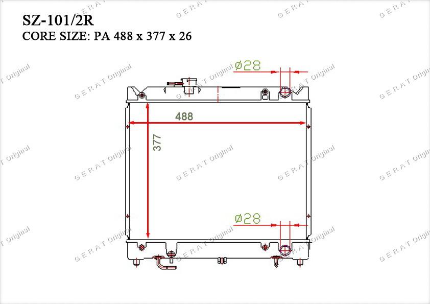 Радиатор основной 1770060A00