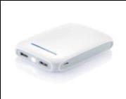 Портативное зарядное устройство 10000 мА/ч, Белый