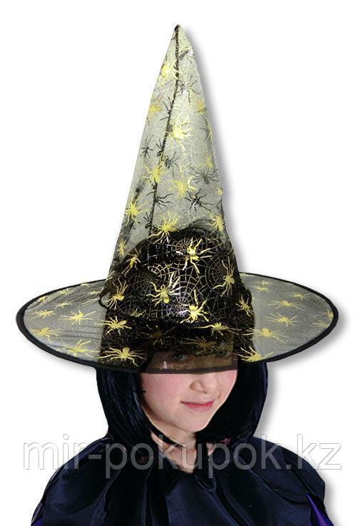 Шляпа ведьмы на Хэллоуин (Halloween)  (ткань плащевка),Алматы