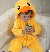 Пижама кигуруми утёнок для малышей