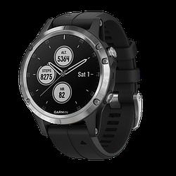 Смарт-часы Garmin Fenix 5S Plus Серебристые с черным ремешком 010-01987-21