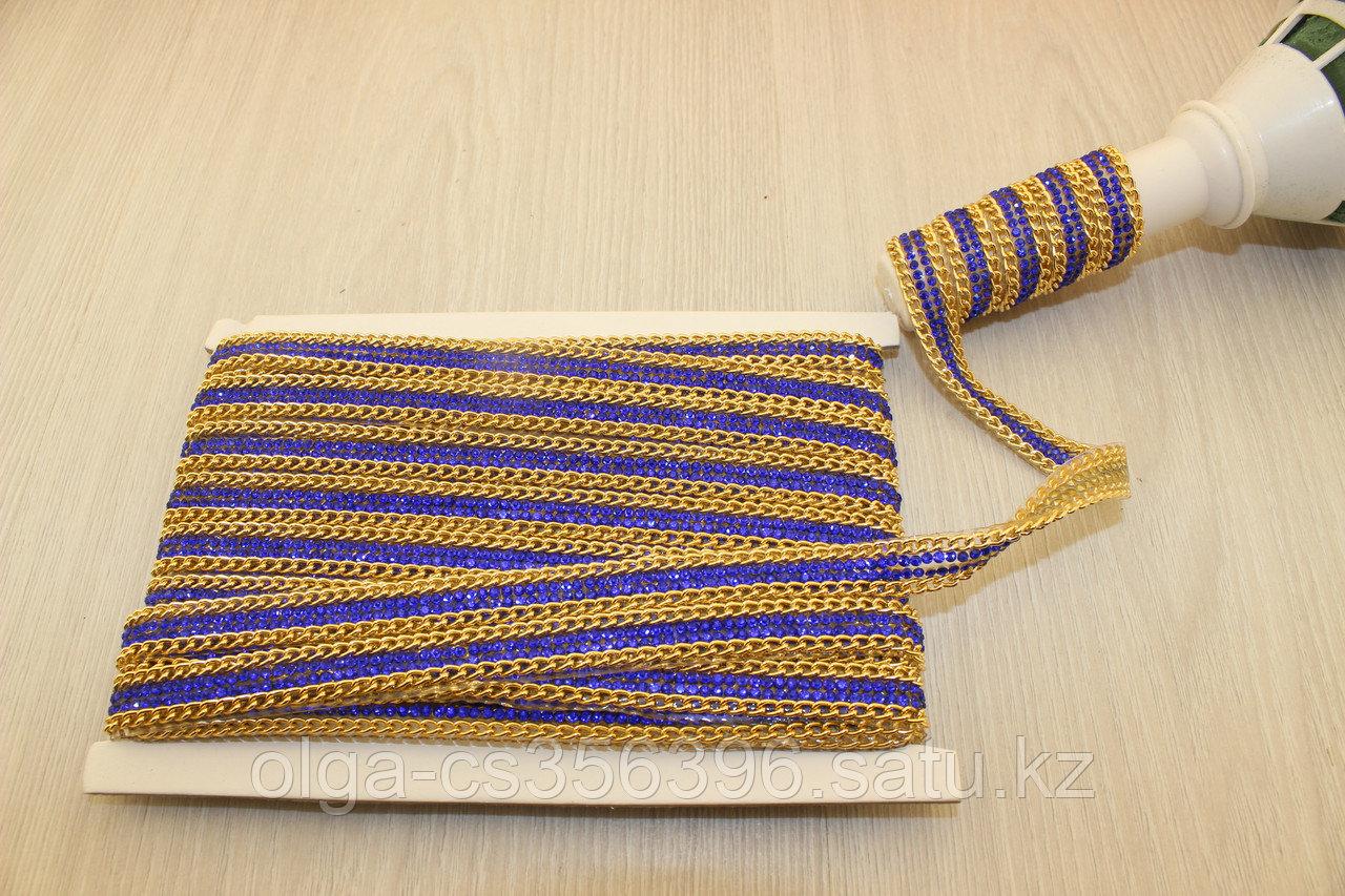 Стразы цепочкой на силиконе 12 мм. Creativ 2321