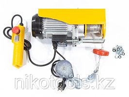 Тельфер электрический TF-500, 0,5 т, 1020 Вт, высота 12 м, 10 м/мин. DENZEL