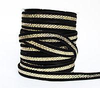 Декоративная лента для одежды, черная