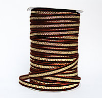 Декоративная лента для одежды, темно-коричневая