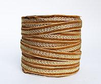 Декоративная лента для одежды, светло-коричневая