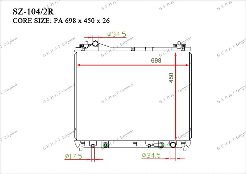 Радиатор основной 1770066J10