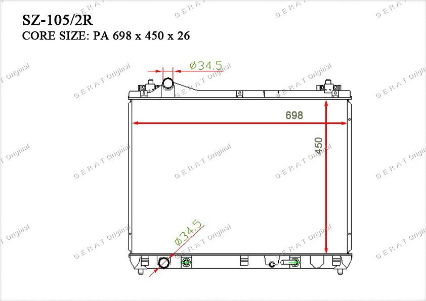 Радиатор основной 1770065J10