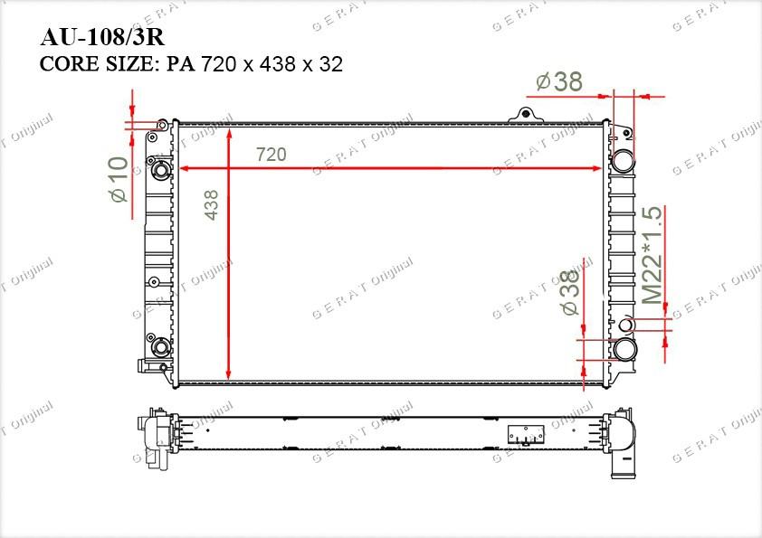Радиатор основной 4D0121251R