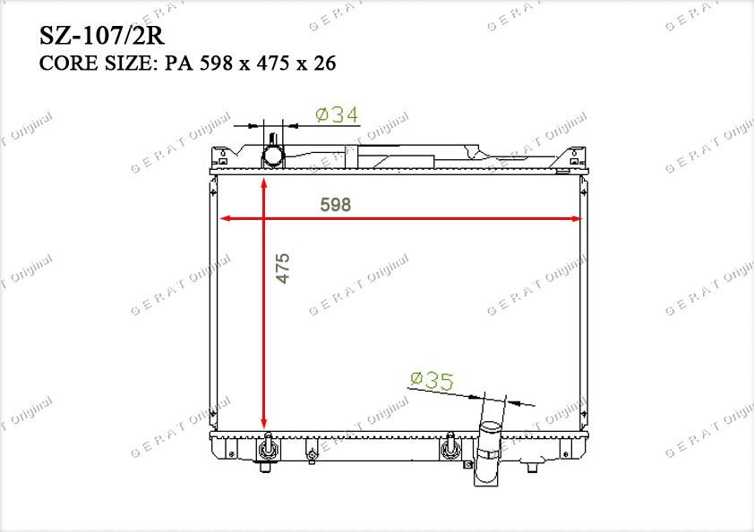 Радиатор основной 1770052D30
