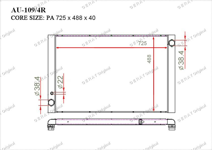Радиатор основной 4E0121251D