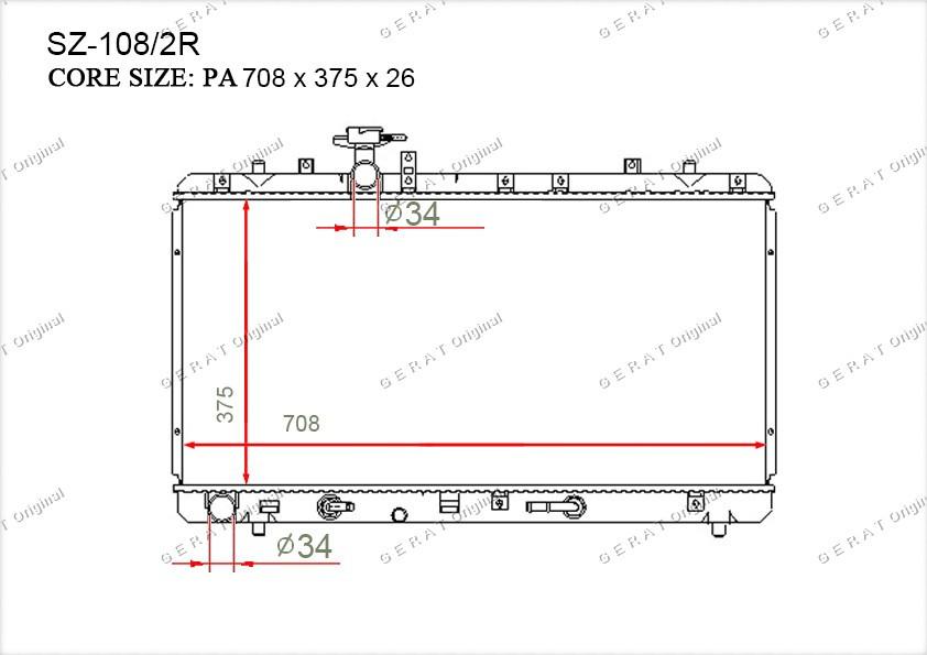 Радиатор основной 1770080J10