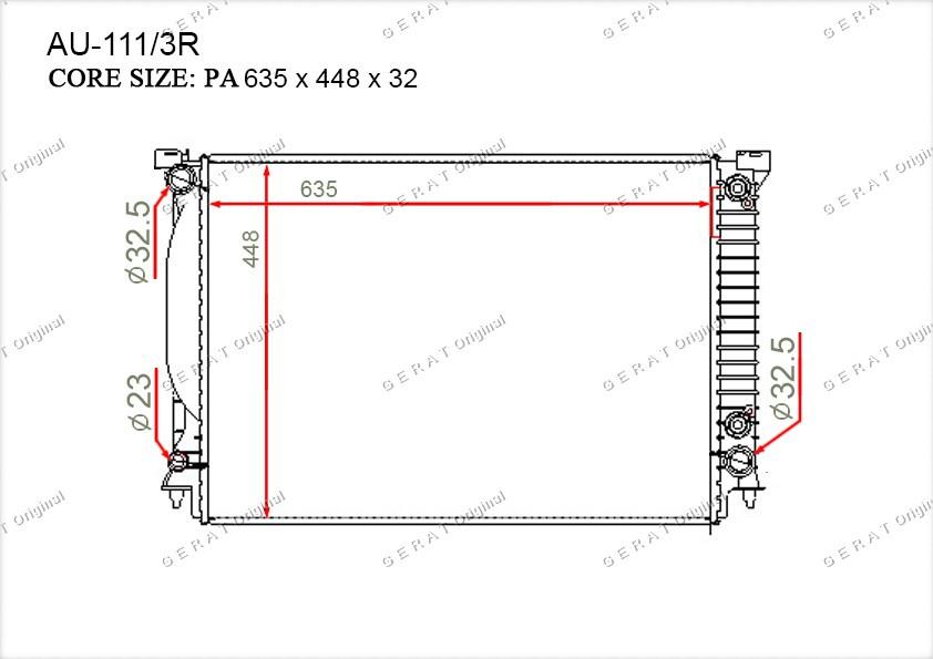 Радиатор основной 8E0121251C