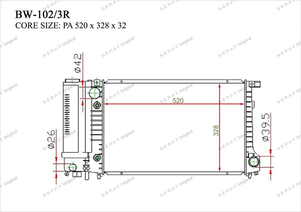 Радиатор основной 17111712986
