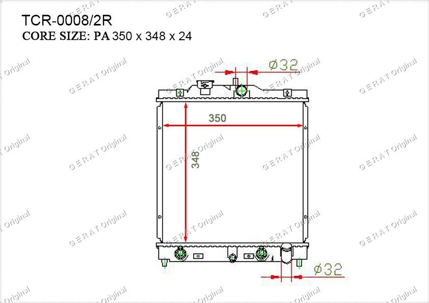 Радиатор основной HD-110/1R