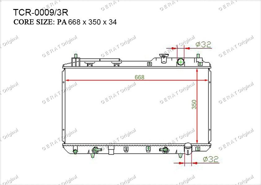 Радиатор основной HD-102/2R