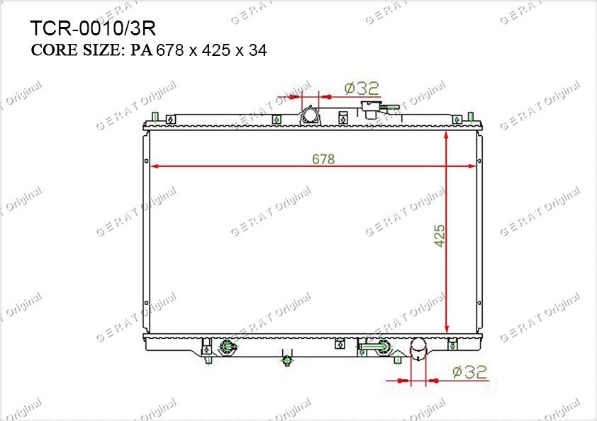 Радиатор основной HD-103/2R