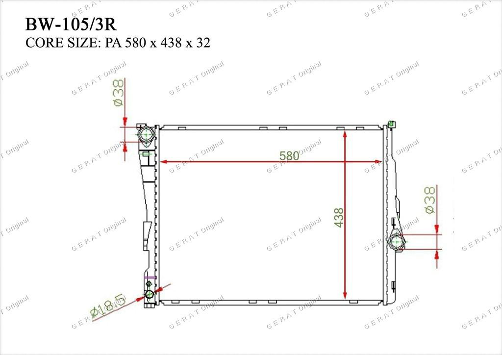 Радиатор основной 17119071518