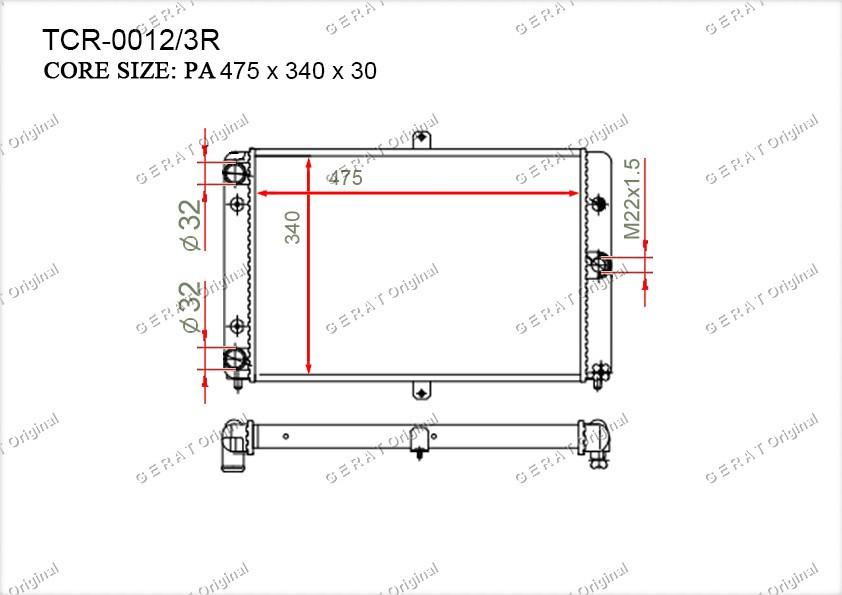 Радиатор основной 21081301012