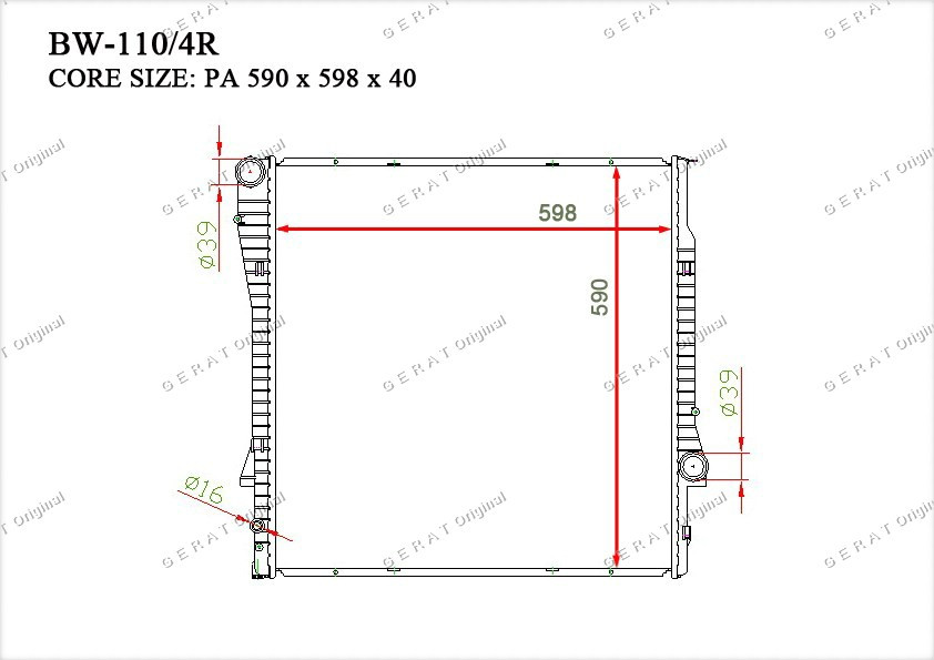Радиатор основной 17101439101