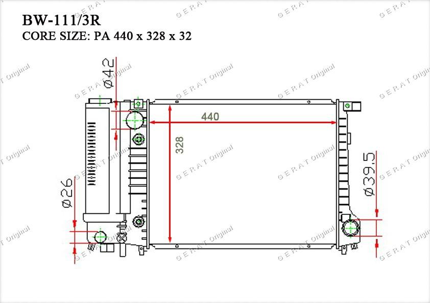Радиатор основной 17111712982