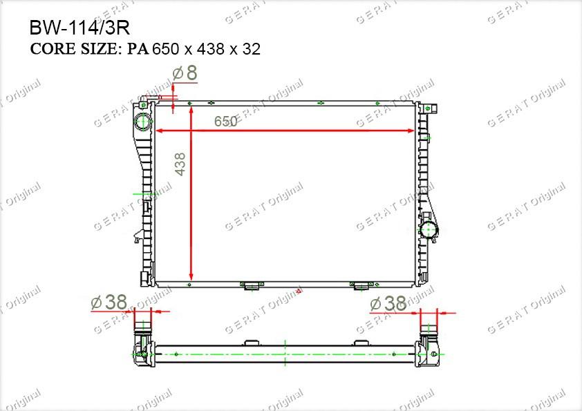 Радиатор основной TCR-0005/3R