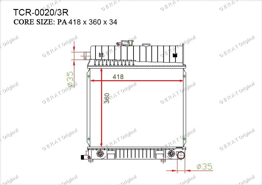 Радиатор основной MR-104/2R