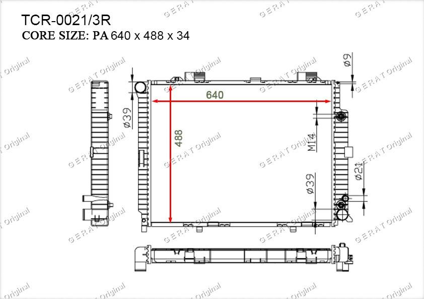 Радиатор основной MR-118/3R