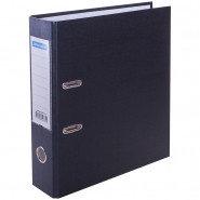 Папка регистратор OfficeSpace, 7 см, с кармашком на корешке, бумвинил, черный