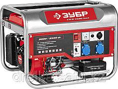 Бензиновый электрогенератор ЗУБР ЗЭСБ-3500-ЭМ2, двигатель 4-х тактный, ручной и электрический пуск, 220/12В