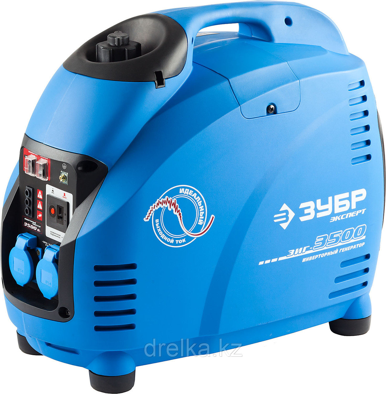 Бензиновый электрогенератор ЗУБР ЗИГ-3500, генератор инверторный, однофазный (220В), 4-тактный