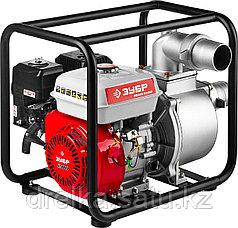 Мотопомпа бензиновая ЗУБР ЗБМП-1000, 4-х тактная, ручной пуск, высота подачи 30м, 1000л/мин.