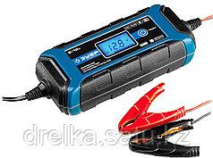 Зарядное устройство для автомобильного аккумулятора ЗУБР 59300, ПРОФЕССИОНАЛ, 6В/12В, 4А, автомат, IP65, AGM.