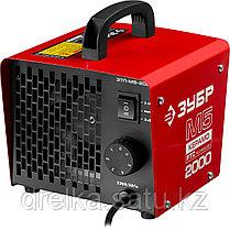 Пушка тепловая М5-Керамо, ЗУБР ЗТП-М5-2000, электрическая, РТС керамический нагревательный элемент, фото 2