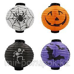 Хэллоуин LED Бумажный фонарь Тыквенный паук  Алматы