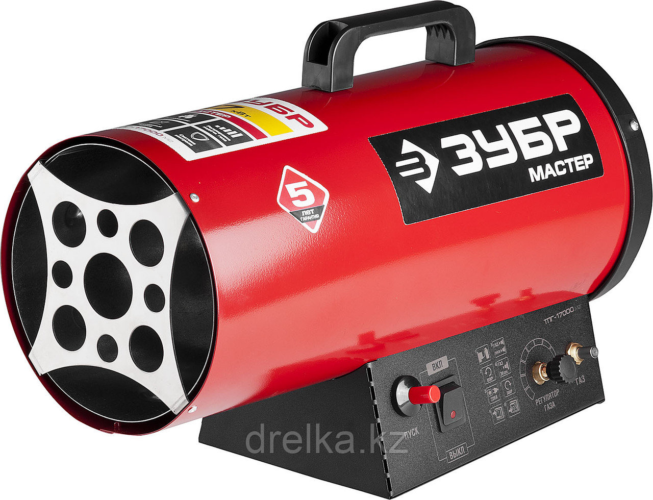Тепловая пушка газовая ЗУБР ТПГ-17000_М2, МАСТЕР, 220 В, 17,0 кВт, 330м.куб/час, 1,4кг/ч.
