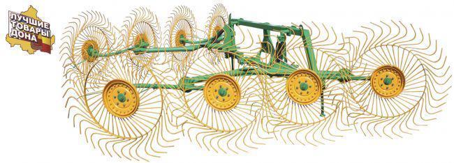 Грабли колесно - пальцевые(8 колес)