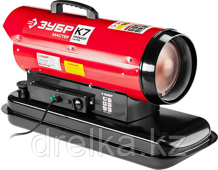 Дизельная тепловая пушка ЗУБР ДП-К7-15000, 220 В, 15,0 кВт, 300 м.кв/час, 18,5 л, 1,3 кг/ч, регулятор t., фото 2