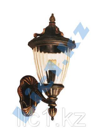 Настенный садово - парковый светильник черный