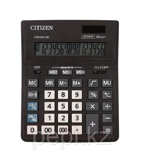 Калькулятор  CDB-1601,  16р Citizen  (размер 15,7*20см)