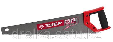 Ножовка по дереву (пила) ЗУБР МОЛНИЯ-5 450 мм, 5 TPI, прямой крупный зуб, быстрый рез поперек волокон, фото 2