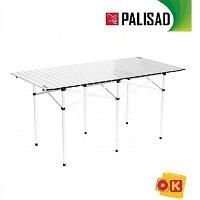 Стол складной 1400 x 700 x 700 мм, алюминиевый. PALISAD Camping.